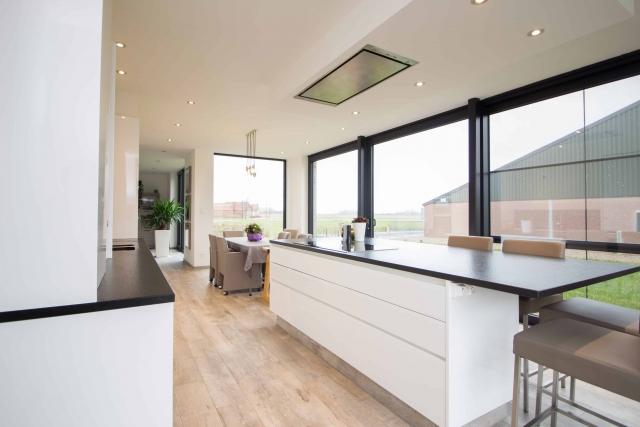 Interieur foto Zicht op keuken